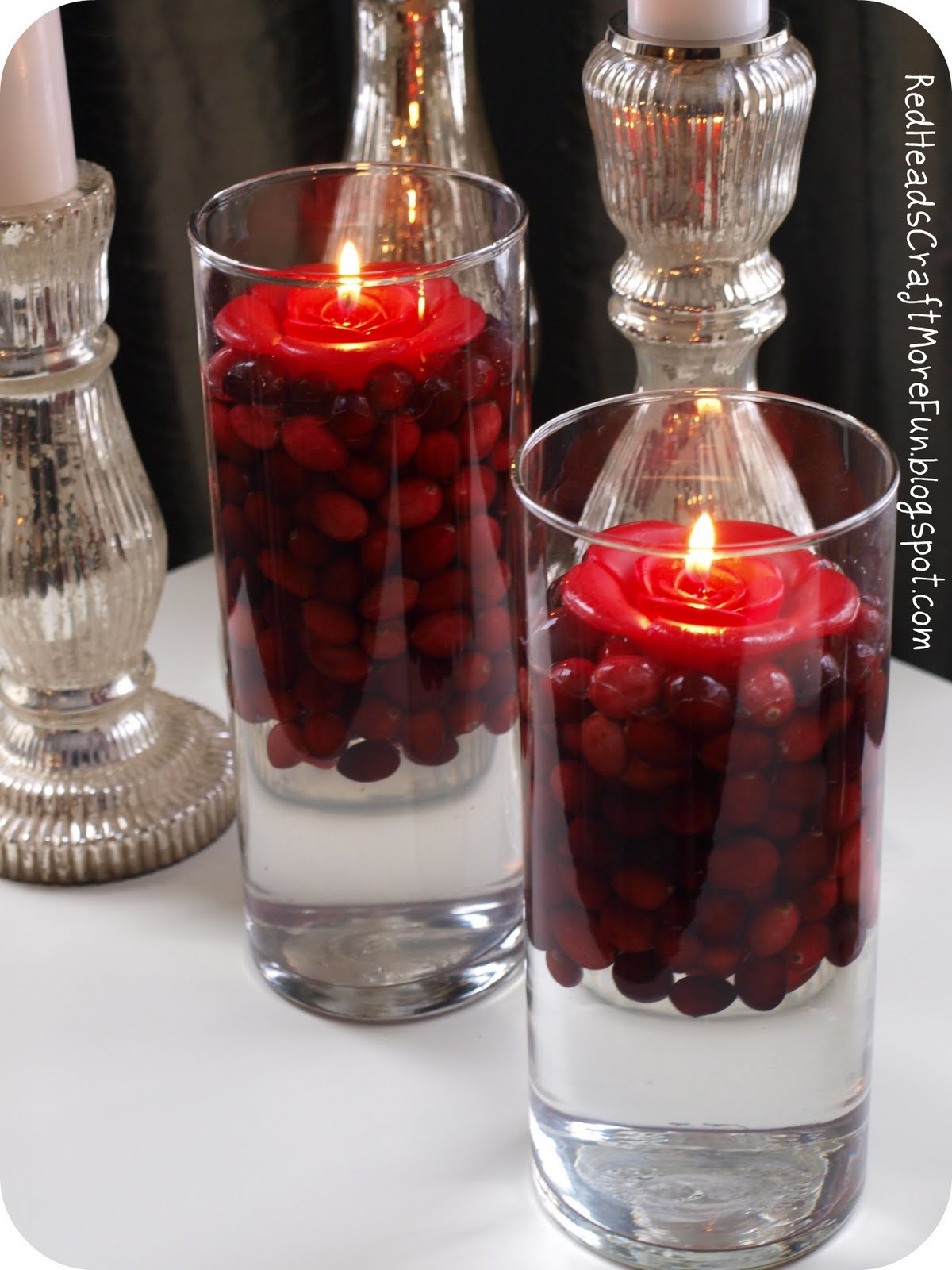 Cranberries Floating Candles