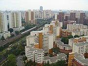 HDB-built flats in Singapore.