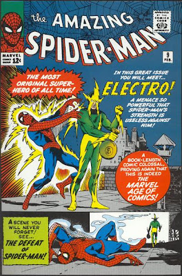Amazing Spider-Man #9, Electro makes his debut and knocks Spider-Man out