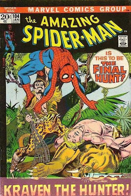 Amazing Spider-Man #104, Kraven the Hunter, Ka-Zar, Zabu, Gog and the Savage land
