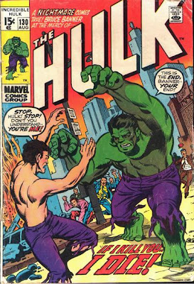 Incredible Hulk #130, the Hulk vs Bruce Banner