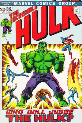 Incredible Hulk #152, the Hulk vs the Fantastic Four and Daredevil