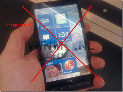 HTC HD2 running windows phone 7 series---NOT!!