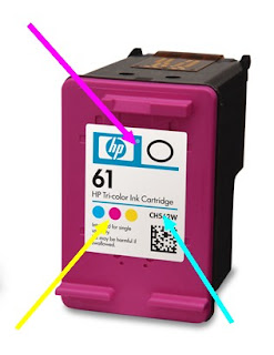 How to refill HP61 CH562WN Hewlett packard ink cartridge