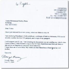 surat ayah MANOHARA