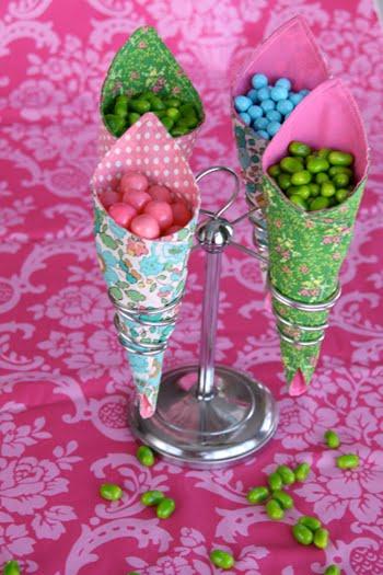 cones de tecido - para festa