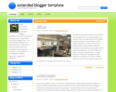 Extended Blogger Template