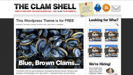 The Clam Shell Blogger Template