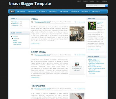 Smash Blogger Template