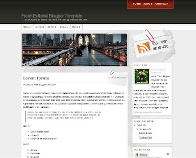 Fresh Editorial Blogger Template
