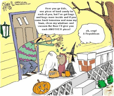 Another reason to hate Halloween: it's a SOCIALIST holiday - did those kids EARN that candy?