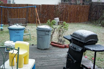 photographic proof of actual accumulation (photographer not responsible for subsequent melting)