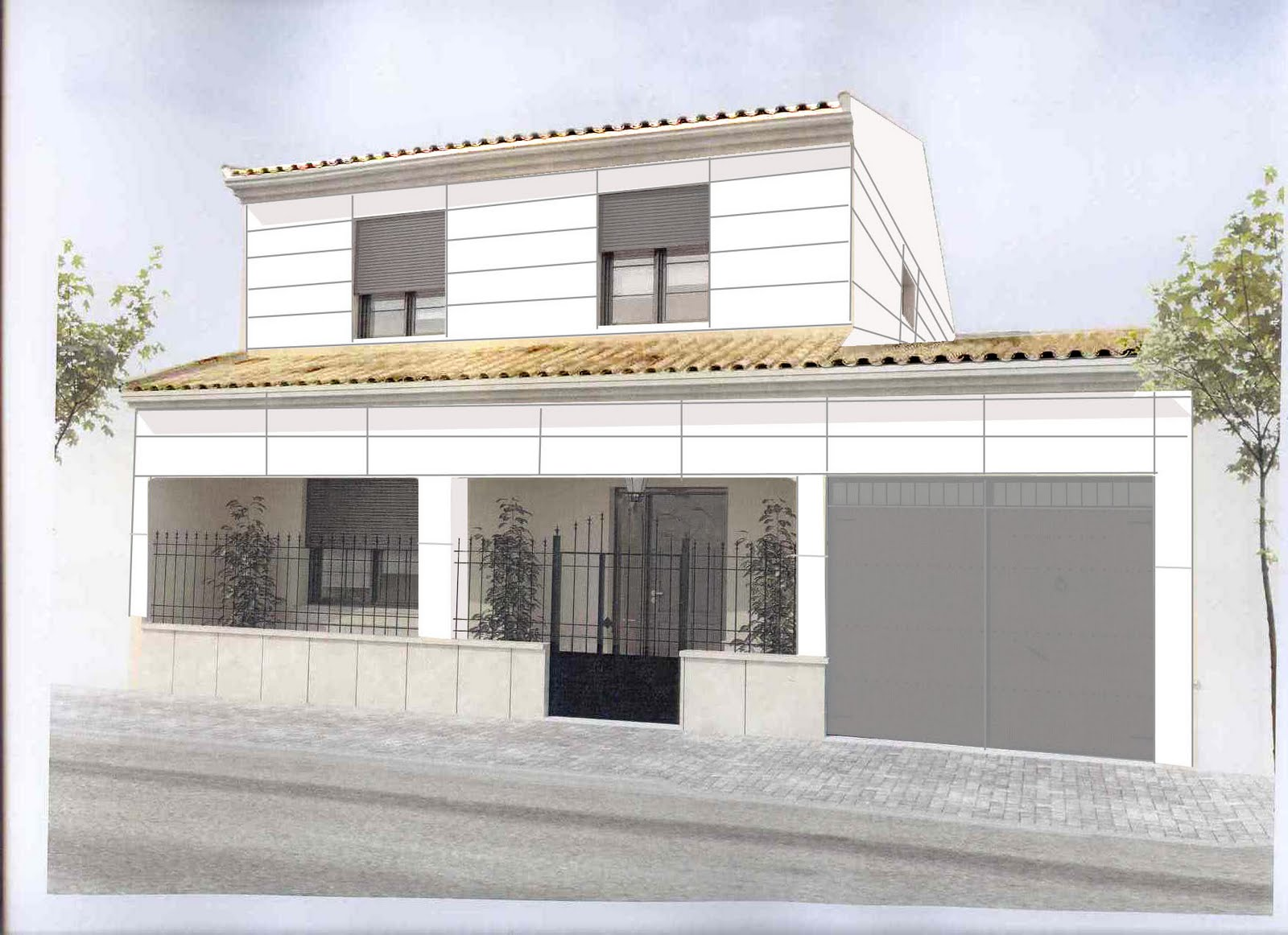 Tengounprimoarquitecto qu hago con el pasillo y la fachada - Zocalos de fachadas ...