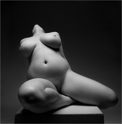 Plus size artistic nude that