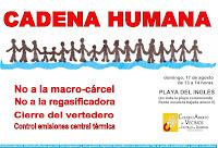 Cartel cadena humana en Playa del Inglés (español)