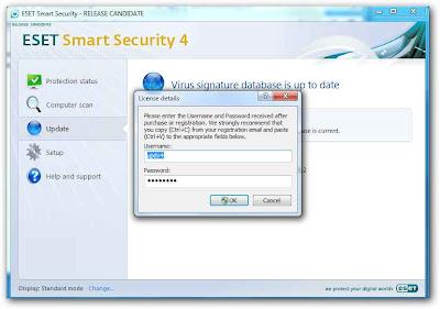 sshot 1 ESET   Senhas e Username grátis