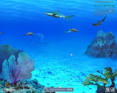 ctrl c marine aquarium 3 sharks screensavers