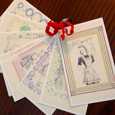 Turn of the centuries vintage recipe cards the 3 x 5 vintage aprons recipe cards includes 8 different illustrations on the front and a lightly lined writing field surrounded by a neat frame with 8 forumfinder Gallery