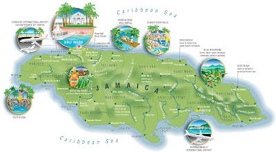 Steccati maps your world flavors of jamaica were off to enjoy the balmy weather and laid back lifestyle of sunny jamaica created for a luxury resort near montego bay my client wanted an illustrated sciox Images