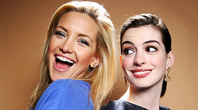 celebrity stock photos - Kate Hudson and Anne Hathaway