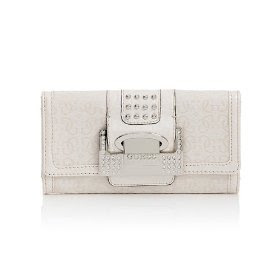 GUESS G-Shine Clutch - Ivory