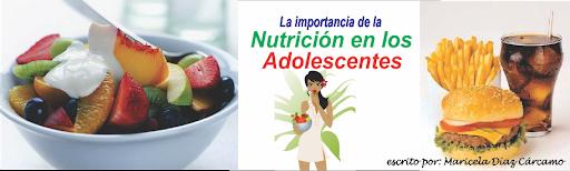 La Nutrición en los Adolescentes