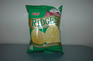 Oishi - Ridges Potato Chips - Onion & Garlic Flavor