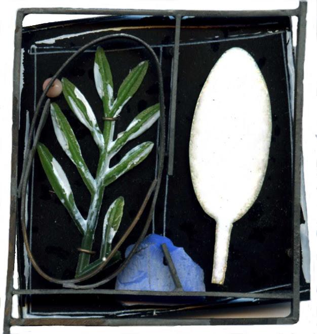 nº 1129 brooch 2006. silver, nickel silver, plastic, enamel, acrylic painting.