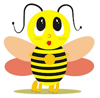 A abelhinha escreve o seu nome