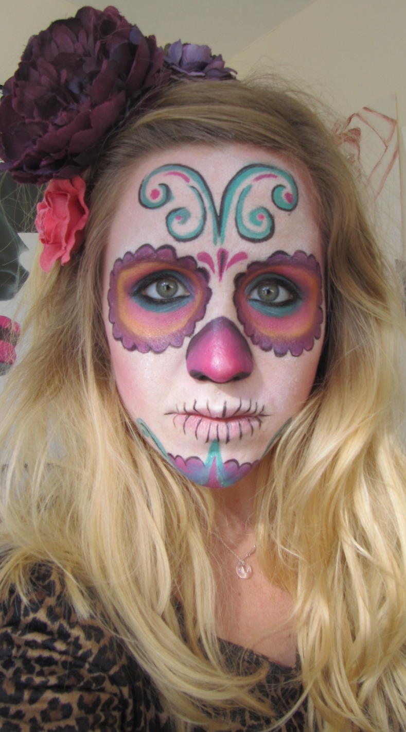 Primp Powder Pout A Make Up Artists Life Day Of The Dead Dia De - How-to-do-day-of-the-dead-makeup