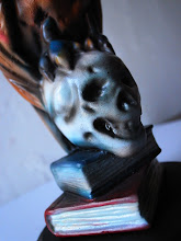 Owl on Skull  Book