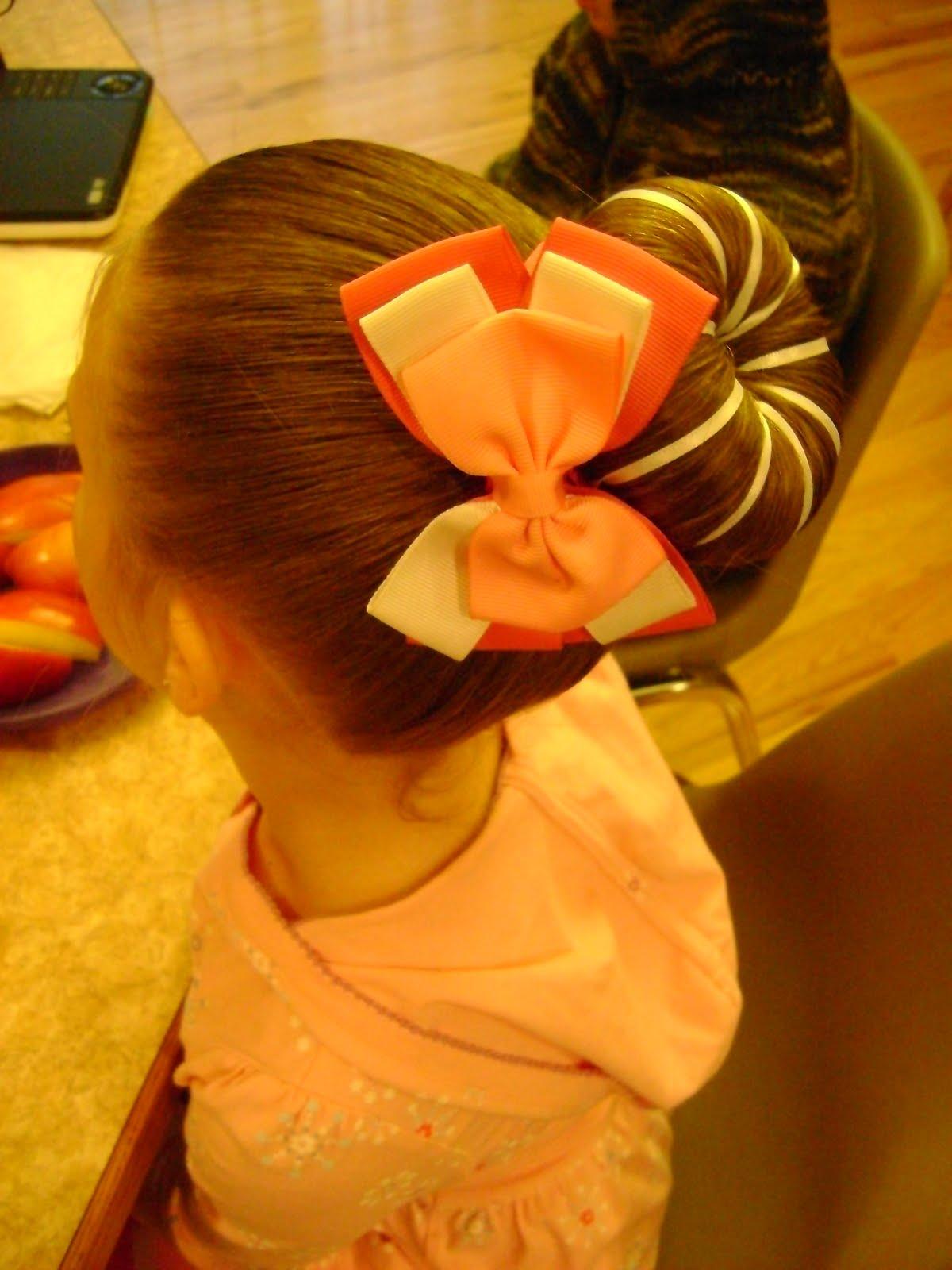 how to make a ballerina bun on a little girl
