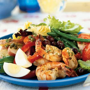 Grilled California-Style Chopped Salad With Shrimp Recipe — Dishmaps