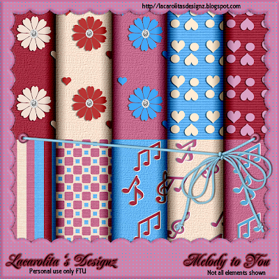 http://lacarolitasdesignz.blogspot.com/2009/04/freebie-melody-to-you.html