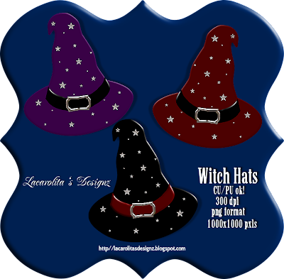 http://lacarolitasdesignz.blogspot.com/2009/09/witch-hats-cupu-ok.html
