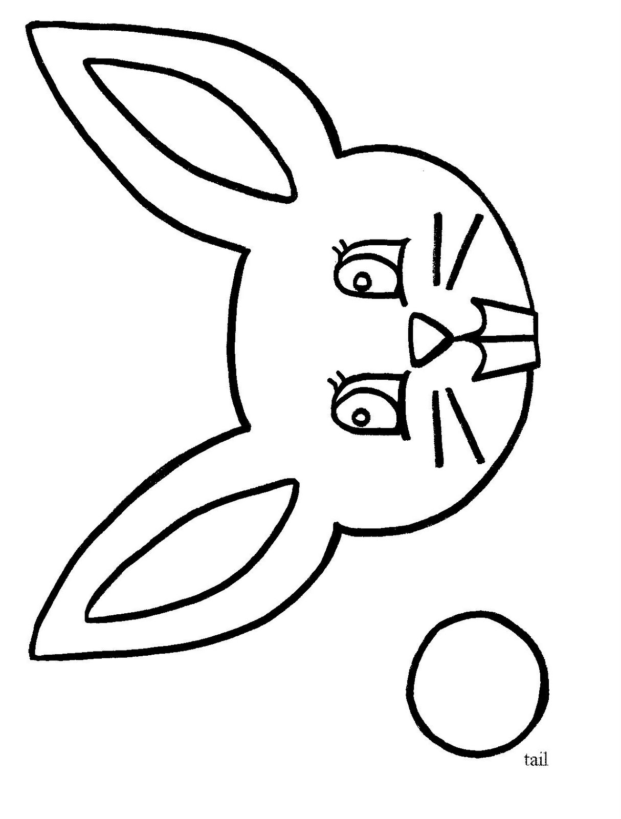 bunny craft with printable