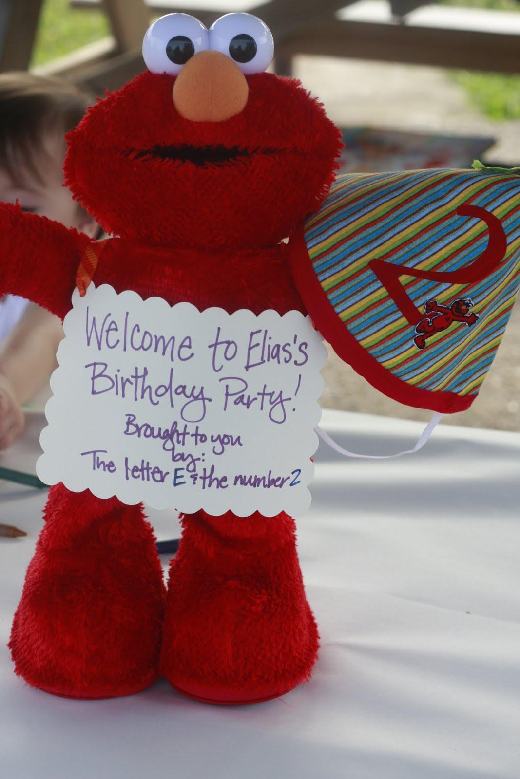 Eliass Elmo Birthday Party The Mom Creative