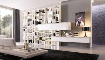 Marvelous Modern Living Room Wall Units For Book Storage From Misuraemme