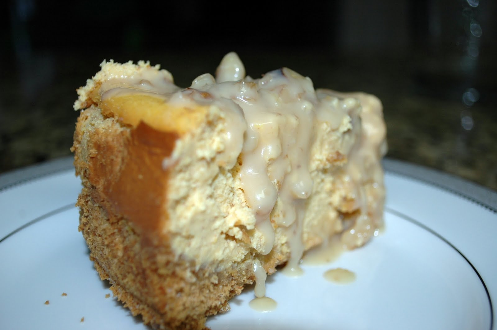 ... Thymes and Good Food: Pumpkin Maple Cheesecake with Walnut-Maple Glaze