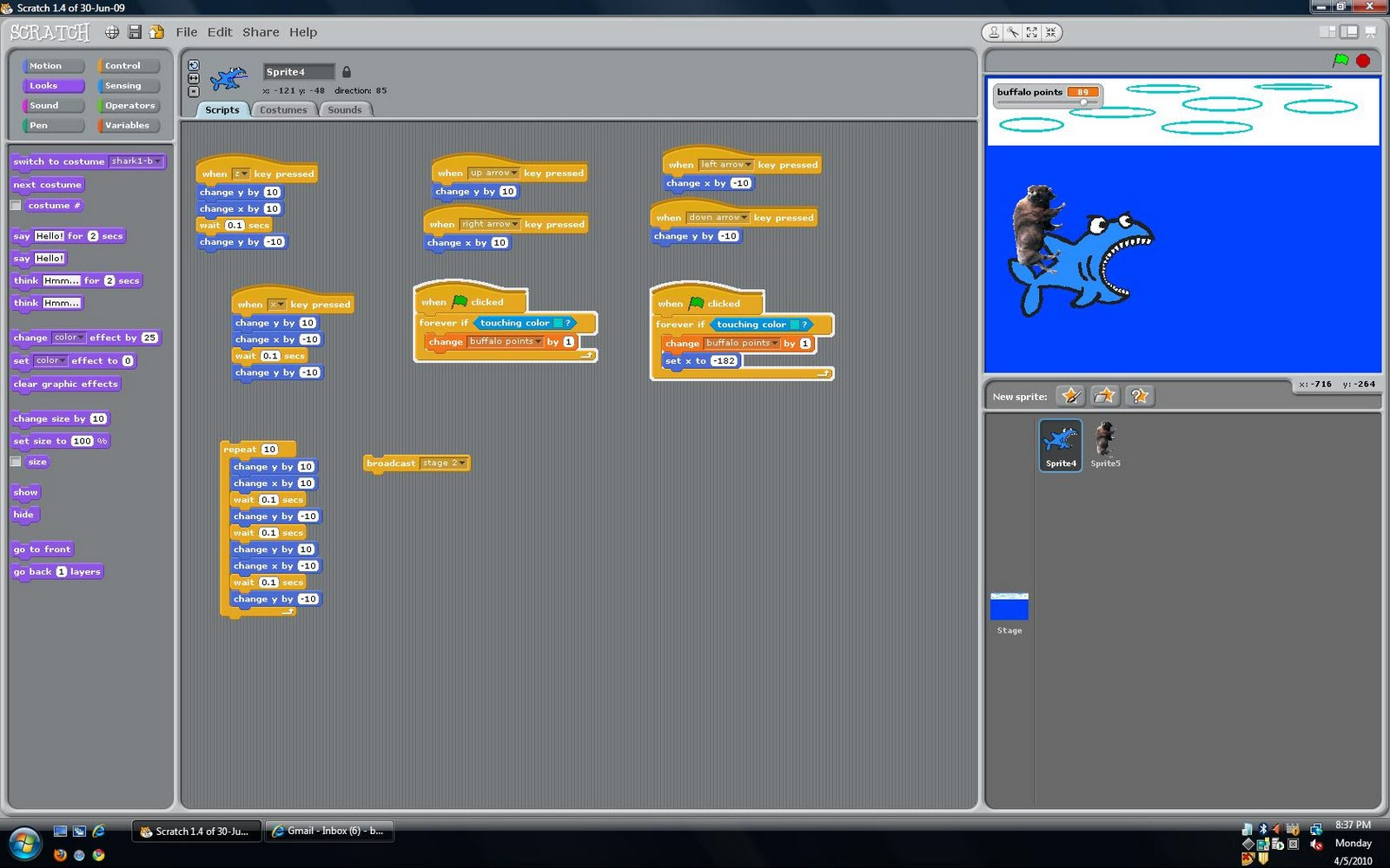 how to make something move on scratch