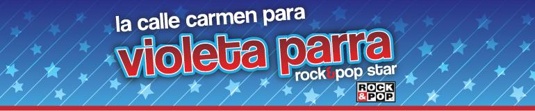 La calle Carmen para Violeta Parra