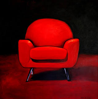 Gay Fay Kelly Art: Mo Scollan: Waiting (Big Red chair)