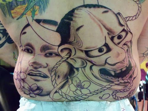 The Hannya masks are frightening, tragic, and mysterious all at once.