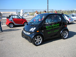 Josh driving a smart fortwo turbo