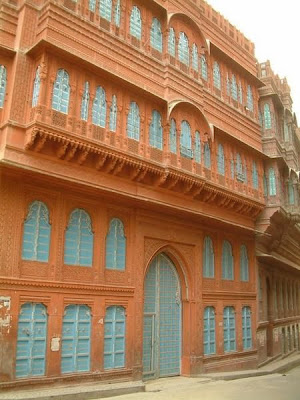 Bikaner a normal palace in Rajasthan India