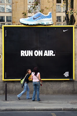 Nike run on air campaign was hugely successful while it launched  all across US. An outdoor hoarding ad of the footwear brand