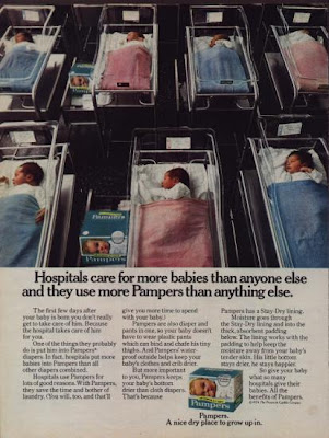 Pamper adverts during 1970s