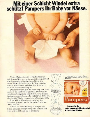 Pamper ads 1977 1978 1979