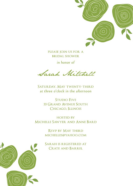 Blushing Bride Bridal Shower Invitation