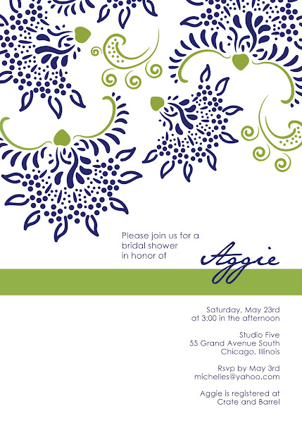 Fashionista Bridal Shower Invitation